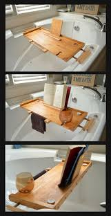 bathtub tray with book holder diy ideas