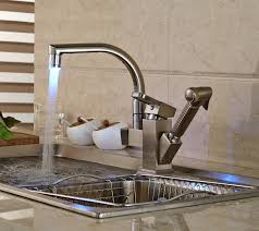 brushed nickel sink. Plain Brushed Shades Brushed Nickel Kitchen Sink Faucet With Pullout Sprayer 2 On N