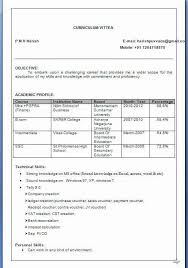 Mba Finance Resume Format Resume Template Sample