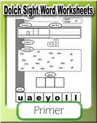 Dolch Primer Sight Word Worksheets Sight Words Pinterest