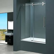 glass shower doors tub house a inch clear glass tub sliding door frosted glass shower tub