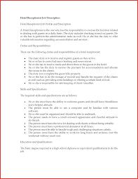 hotel receptionist job description receptionist job description resume  sample
