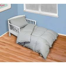 4 piece cool gray twin toddler bed set