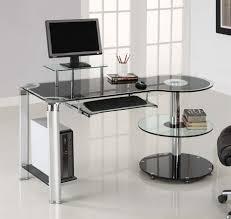 glass home office desks. Image Of: Modern Home Office Desk Shapes Glass Desks O