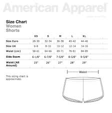 American Apparel Youth Size Chart American Apparel Size Chart Favorite