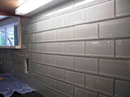 kitchen backsplash white subway tile shower black grout elegant intended for glass idea 15