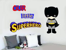 superhero decals our little superhero wall art stickers decals super hero marvel comic batman superhero decals