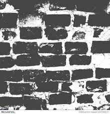 brickwork brick wall of an old house black and white grunge texture abstract