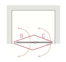 larenco bi folding gl shower doors for an alcove