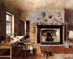 Old Kitchen Kitchen At The Old King Street Bakery Painting Frederick Mccubbin