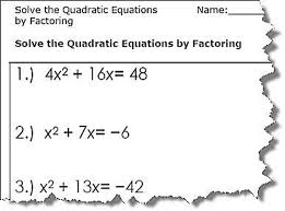 4 worksheets for using the factor method
