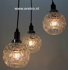 Hanglamp Met 3 Kelken Glas Vintage Verkocht Vintage Sold Oretro