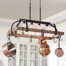 wood cage chandelier elegant pots and pans hanging rack bronze rustic wood chandelier 4 lights 10