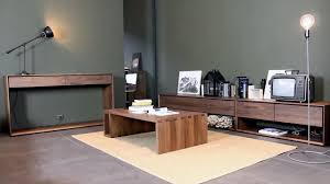 Walnut Living Room Furniture 4 Living Presents Contemporary Walnut Living Room Furniture From