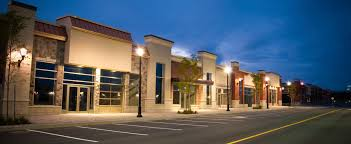parking lot lighting for commercial buildings