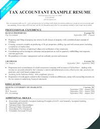 Tax Accountant Resume Enchanting Resume For Accountants Resumes Resume For Accounts Manager In India