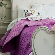 Chenevard Damson & Magenta Reversible Silk Quilt by Designers Guild & Chenevard Damson & Magenta Reversible Silk Quilt Adamdwight.com