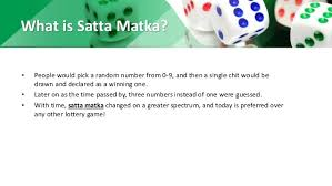 5 important points of satta matka game