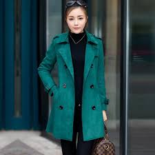 2018 winter women coat 2017 high quality suede fabric women s trench coats long design double ted overcoats streetwear clothes from yoursuger