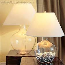 fillable glass table lamp clear kids lamps jug fillable glass table lamp