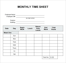 Semi Monthly Timesheet Sample Bi Under Com Time Card Template