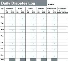 Blood Glucose Log Sheet Printable Printable Blood Glucose And Food Log Sugar Chart Gulflifa Co