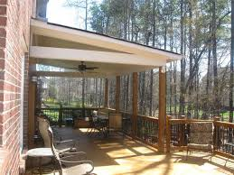 Charlotte covered wood deck with metal pickets decks photo gallery