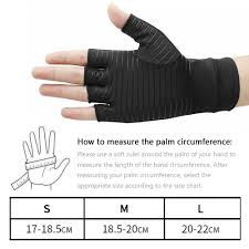 Copper Fit Gloves Size Chart Onlook New Breathable Copper Compression Arthritis Gloves Fit Glove For Women And Men Carpal Tunnel Computer Typing And Everyday Support For Hands