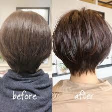 後頭部のボリュームが出ずに丸みのあるスタイルになりにくかった髪が