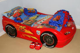 image of cars toddler bed set