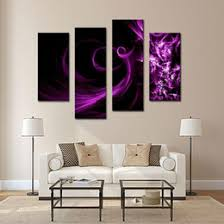 4 picture combination canvas print wall art painting for home decor purple smoke panel paintings modern oil the picture decor on wall art prints nz with purple canvas art prints nz buy new purple canvas art prints
