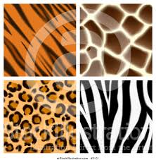 Animal Prints Vector Illustration Of Seamless Giraffe Leopard Zebra And Tiger