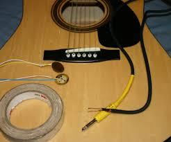 acoustic guitar diy piezo pickups 6 steps