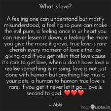 What Is Love A Feeling Quotes Writings By Abhi Yourquote