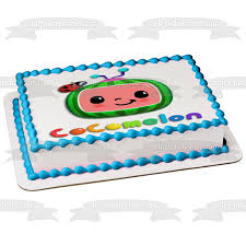 This item is not a licensed product. Cocomelon Kids Tv Show Logo Edible Cake Topper Image Abpid52951 A Birthday Place