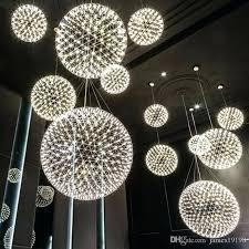 fashionable sphere light fixture led ball modern pendant lamp firework chandelier ceiling light fixture for dinning