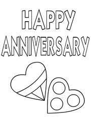 happy anniversary coloring pages. Simple Happy Happy Anniversary Anniversary Inside Coloring Pages N