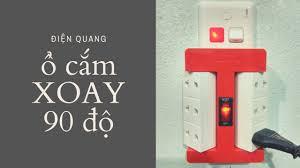 Ổ cắm điện xoay 90 độ Điện Quang 6 lỗ chính hãng - YouTube