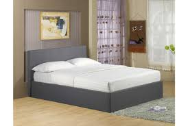 Ottoman In Bedroom Richmond Ottoman Storage Grey Fabric Bed Double Or King Size
