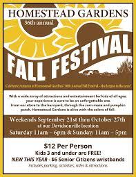 Fall Festival Flier Homesteads 36th Annual Fall Festival Homestead Gardens