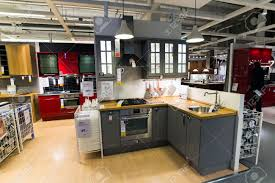 kitchen in the furniture store ikea stock photo picture and kitchen store l d4ae7075ef368b8a