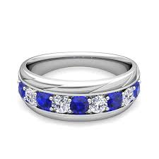 mens wedding bands with sapphires. forever brilliant wedding band mens bands with sapphires $