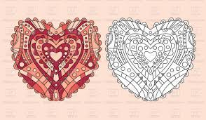 Royalty Free Coloring Pages Awesome Zentangle Coloring Page Heart
