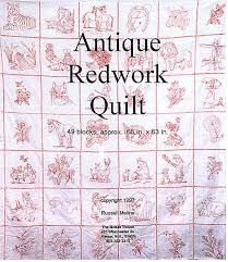 redwork quilting books available at the Moses House quilt shop & antique redwork quilt - book 1 Adamdwight.com