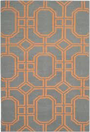 dhurrie rugs blue orange indian uk