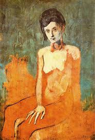 Picasso seated female nude