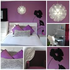 excellent black fl wall decals and white purple bedroom sheet with ikea bed frames as inspiring girls purple bedrooms decoars ideas