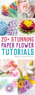 Paper Flower Decor How To Make Tissue Paper Flowers Four Ways Hey Lets Make Stuff
