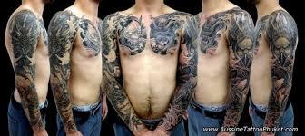 Japonský Rukávy černo šedý Tetováníblogcz