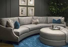 This large, curved sofa caught our eye for its size and shape, and also